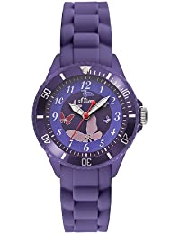 s.Oliver Mädchen-Armbanduhr Analog Quarz Silikon SO-2596-PQ