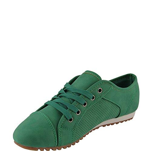 Unbekannt, Sneaker donna Verde (verde)