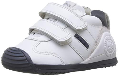 Biomecanics 151157-1, Zapatillas de Estar por casa Bebé Unisex, Blanco Blanco Y Azul Sauvage F...