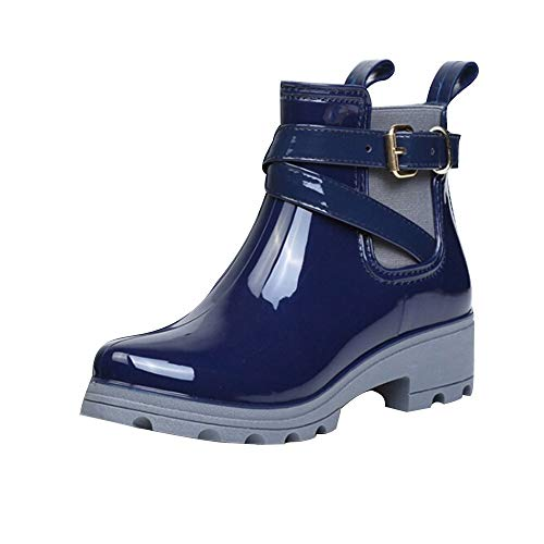 Mjjsk Boots for Women-Originals Water Boots Rain Boots Short Glossy Boot Women