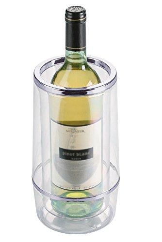 2 x Flaschenkühler / Weinkühler, doppelwandig   Höhe 23 cm