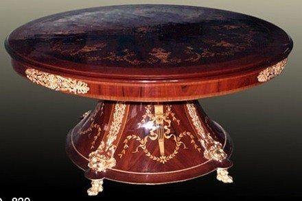 Barock Tisch rund Antik Stil Rokoko LouisXV MoTa0829 antik Stil Massivholz. Replizierte...