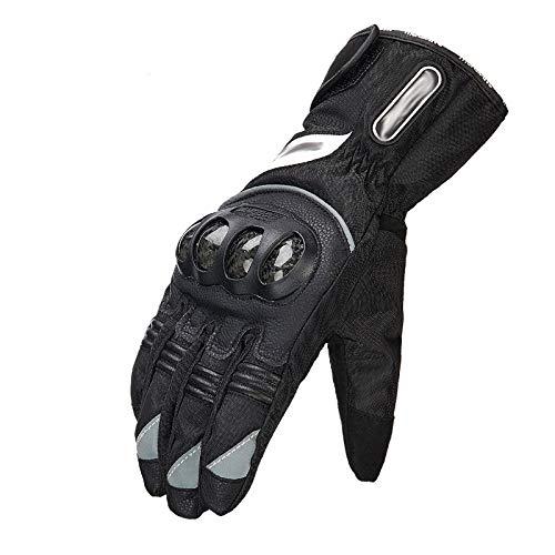 ST Gants De Moto pour Hommes, Sécurité Confortable, Gants De Course en Plein Air Respirants pour Sports Extrêmes,Noir-b,XL