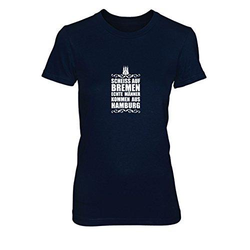 Scheiss auf Bremen - Damen T-Shirt, Größe: XL, dunkelblau