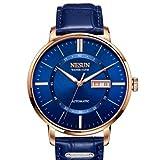 Binger Sapphire Relogio Masculino Automatic Mechanical Watch for Men - N9209-Blue