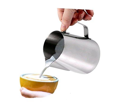Hosaire Milchkännchen 150 ml Milk Pitcher,Edelstahl-Milchschaum Becher Milchaufschäumer von Milch...