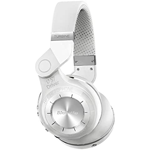 Bluedio T2 auriculares con microfono bluetooth controles de reproducción (blanco)