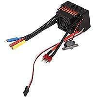 Controlador de velocidad a prueba de agua eléctrico de control de velocidad de motor sin escobillas (BLM), 2-3S 60A Sensored (ESC) con 4,0 mm de bala de plátano, para 1/8 1/10 de coches / camiones / Vehículo sobre orugas