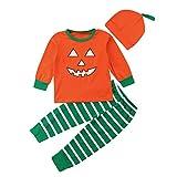 Yesmile Kinder Halloween Kleidung 3PCS Neugeborenes Overall Kleinkind Baby Mädchen Jungen Spielanzug Halloween Kostüm Ausstattungen Knochen Drucken Babybekleidung (24 Monate-7 Jahr)