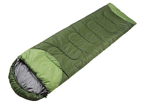 Honeystore Camping & Outdoor 210T Pongé Schlafsack-Deckenschlafsack (190+30)*75 CM Dunkelgrün