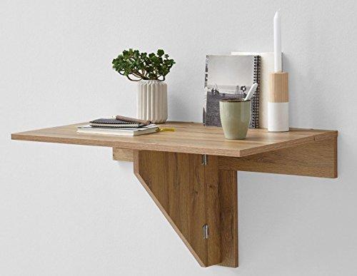 Table pliante coloris chêne ancien - Dim : 80 x 43,7 x 50,7 cm -PEGANE-