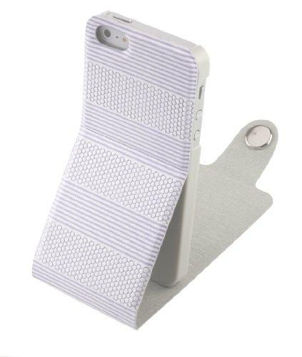 DONZO Handyhülle Flip Cover Case für das Apple iPhone 5 / 5S in Blau Flip Structure als Etui seitlich aufklappbar im Book-Style Flip Structure Blau