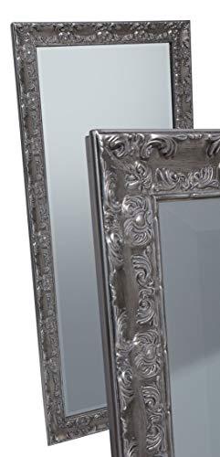 LC Home Wandspiegel Spiegel Silber ca. 180 x 80 cm Antik-Stil barock m. Facettenschliff XL Ankleidespiegel Ganzkörperspiegel