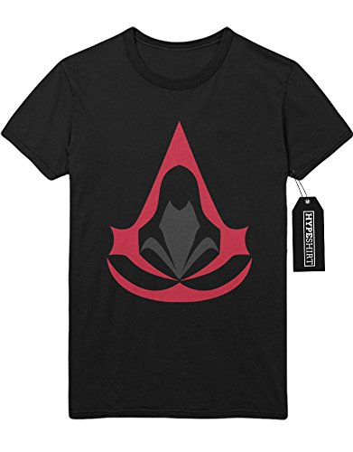 """T-Shirt Assassins Creed """"HOOD LOGO"""" H123146 Schwarz"""