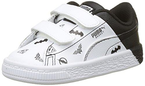 Puma Unisex-Kinder JL Basket V Inf Sneaker, Weiß White Black, 27 EU - Kinder Basketball-schuhe Puma