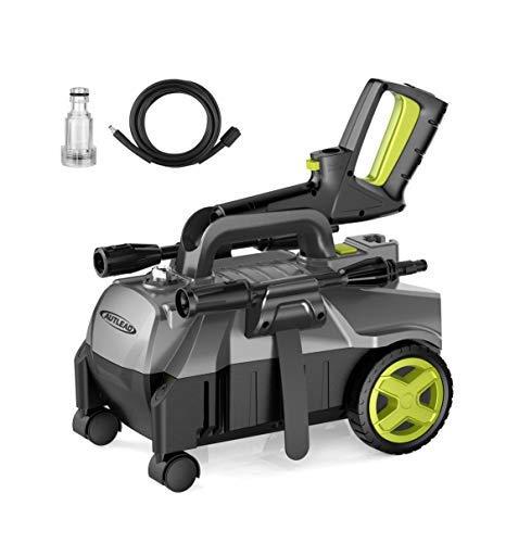 Hidrolimpiadora, AUTLEAD HP01A 1400W 100 Bars 390 L/H Limpiador de presión compacto, manguera de 5 m, bomba de aluminio portátil y boquillas 3 en 1 ajustables, para el hogar, el jardín y los vehículos