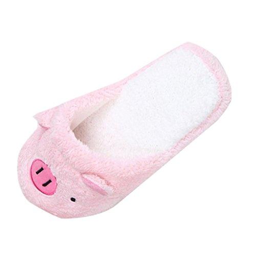 Amlaiworld Frauen Hausschuhe, Schöne Schweine weichen Streifen Hausschuhe weiblichen Schuhe (40, Rosa) - Stiefel Arbeit Frauen Für Rosa
