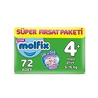 Molfix 3D Bebek Bezi, Maxi 4+ Beden