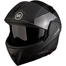 BHR 50128 Casco Modular, Color Negro Mate, Talla S, 55-56 cm