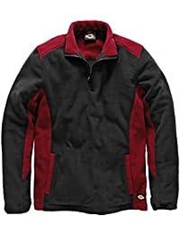 Dickies zweifarbiger Fleecepullover rot/schwarz RDBL, JW7011