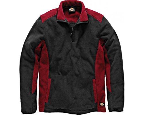 Dickies zweifarbiger Fleecepullover rot/schwarz RDBXL, JW7011 Dickies Fleece Pullover