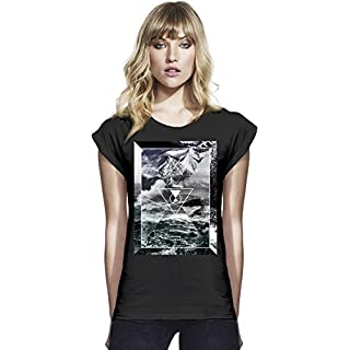 Water Waves And Nature Beauty Womens Continental Rolled Sleeve T-Shirt Large