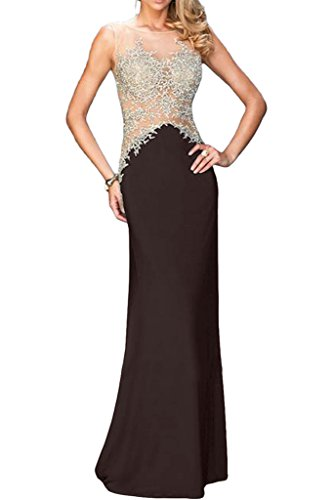 ivyd ressing robe & tuell populaire Motif dentelle mommé Prom Party robe robe du soir Marron