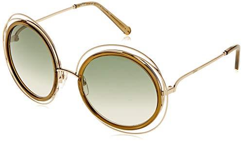 Chloè Damen CE120S 750 58 Sonnenbrille, Gold-Khaki,