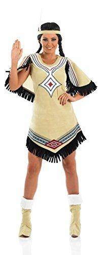 Fun Shack Damen Costume Kostüm Womens Native American Beige, ()