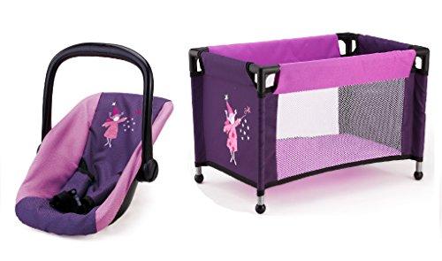 Bayer Design 61712AB Autositz und Reisebett für Puppen