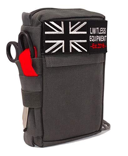 Limitless Equipment Alpha Kit di Pronto Soccorso Alpha con Attrezzatura illimitata: IFAK per Uso Militare, da Campeggio, da Trekking, di Sopravvivenza e in Auto.