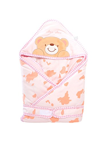 Mee Mee Baby Wrapper Blanket with Hood (Baby Pink)  available at amazon for Rs.779