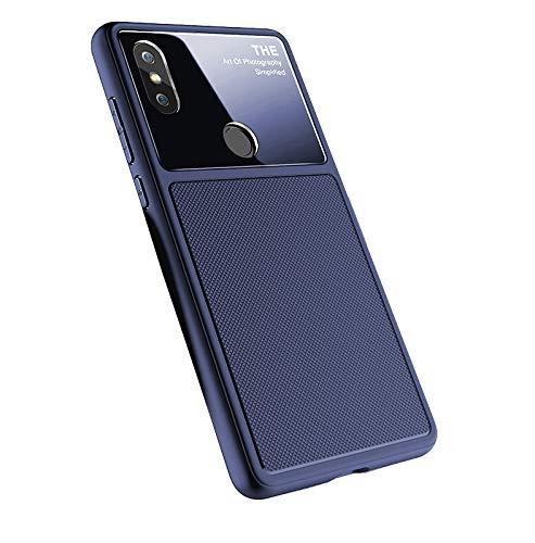 TANYO Funda Xiaomi Mi Mix 2S TPU Silicona Suave,Serie Negocios,[Amortiguación] [Anti-Caída] [Anti-Scratch] [Anti-Huella Digital] Funda para XiaoMi Mi Mix 2S (Azul)