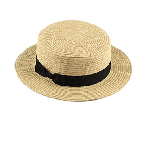 98ef2cabf2cfb7 Kongqiabona Sunhat Fashionable Design Bambini Ragazze Adulto Donna Summer  Sunscreen Boater Cappello Classic Weave Straw Ladies