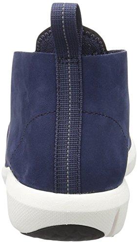 Clarks Triflow Mid, Sneakers Hautes Homme Bleu (Blue Nubuck)