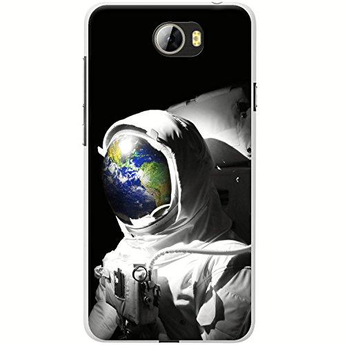 Astronautenanzug & Spiegelbild der Erde Hartschalenhülle Telefonhülle zum Aufstecken für Huawei Y5 2