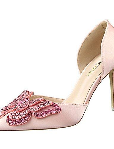 WSS 2016 Chaussures Femme-Décontracté-Noir / Vert / Rose / Rouge / Gris / Nu-Talon Aiguille-Talons-Chaussures à Talons-Soie nude-us6.5-7 / eu37 / uk4.5-5 / cn37