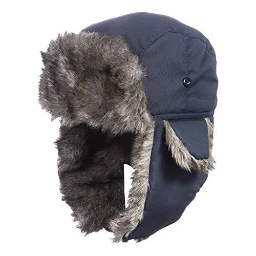 MeOkey Impermeable Fourrure d'hiver Bonnet de d'oreille Rabat Bonnet Aviateur avec Masque Detachable Anti Vent Anti poussiere pour Ski Snowboard pour homme et femm