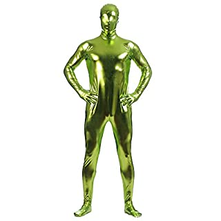 Anyu Unisex Shiny Stage Costume Role Dance Clothes Nightclub Bodysuit Grass Green L