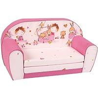 knorr-baby 430167 Kindersofa zum Ausklappen Spielzimmer, pink preisvergleich bei kinderzimmerdekopreise.eu