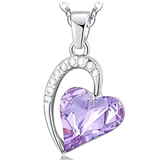 NEEMODA Gifts for Women Crystal Heart Pendant Necklace for Her Fashion Jewellery