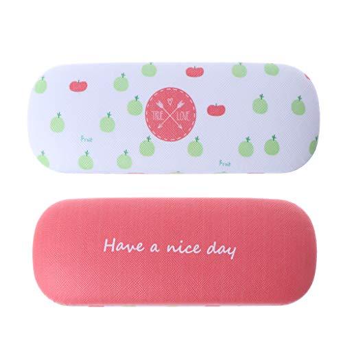 GUBENM Tragbar Niedlich Obst Brillenetui, Harte Sonnenbrille Box (E - Äpfel)
