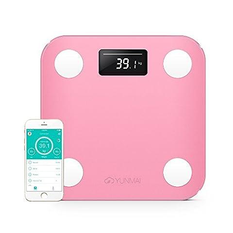 yunmai Mini Balance de salle de bain avec bluetooth Smart Corps Analyseur–10Corps Analyse Composition (Inc. Body Fat)