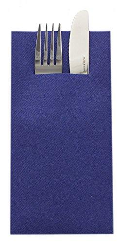 Sovie HORECA Airlaid Besteckservietten 40x40cm, Hochwertige Einweg-Serviette ideal für Hochzeiten, 100 STK, Royalblau