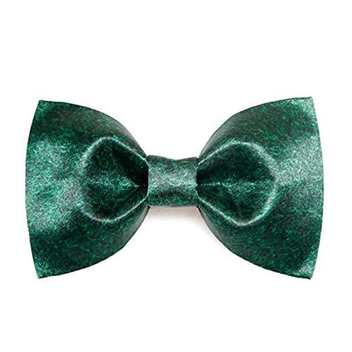 Kostüm Run Electric - Cvbndfe Gentleman Fliege Einstellbare Klassische Smoking Herren handgefertigte grüne Rasen Fliege grün Garderobe des Gentlemans