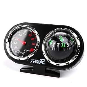 Reuet® Guide de voiture angle reglable Le Bal thermom¨¨tre boussole voiture + directionnel boule YH-051