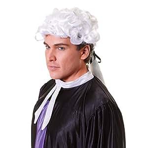 Perruque de Déguisement - Juge Court
