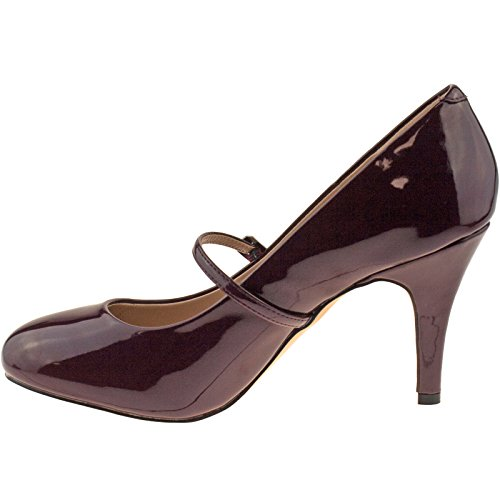 Lotus Serenoa, Mary Jane femme Bordeaux