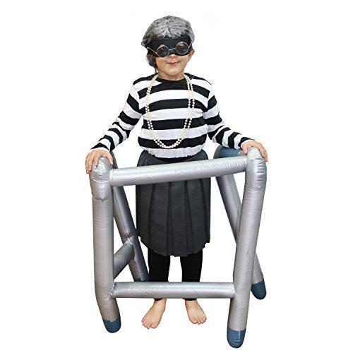 Gangster Erwachsene / Kinder Oma / Oma Maskenkostüm Set für Welt Buch Woche / Buch Tag (Gangster Oma Kostüm)