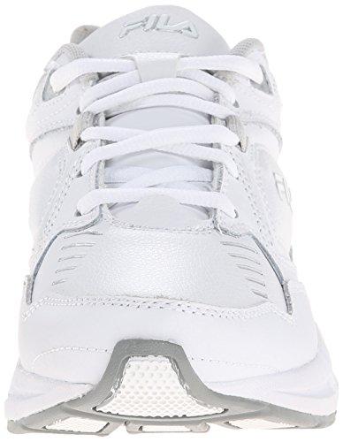 Fila Mémoire Confort formateur Slip travail résistant à chaussures White/White/Metallic Silver